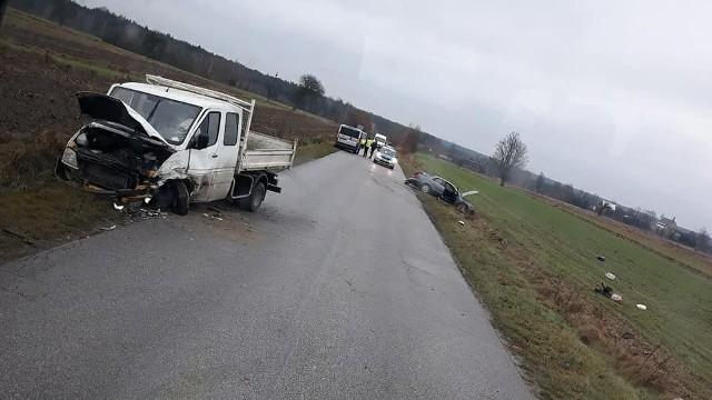 W wypadku na drodze w Marianowie jedna osoba została ranna.