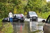 Wrocław: Odra zalała wjazd do miasta. Policja kazała zamknąć drogę