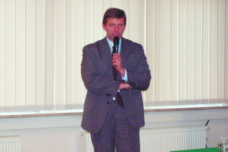 Marek Zuber był gościem konferencji w PWSZ w Suwałkach.