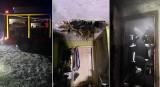 Dziura w stropie! Nocny pożar w domu pod Stargardem. W akcji strażacy ze Stargardu i z Ochotniczej Straży Pożarnej w Pęzinie. ZDJĘCIA