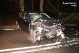 Śmiertelny wypadek na DW 425 między Kuźnią Raciborską a Rudą Kozielską ZDJĘCIA