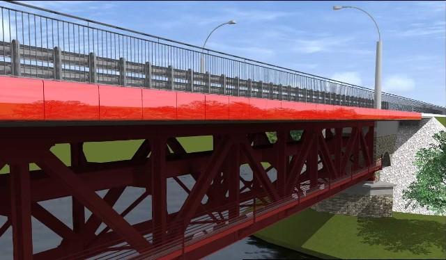 Wizualizacja mostu po rewitalizacji.