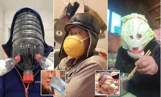 Tak niektórzy chronili się przed koronawirusem na początku pandemii. Staniki, podpaski na nosie i ustach, wiadra na głowach, osłony na twarz z butelek. Zobaczcie te zdjęcia. Poprawa humoru gwarantowana!Kliknij strzałkę obok zdjęcia lub przesuń je gestem i zobacz więcej zdjęć >>>