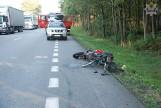 Wypadek w Leśnicach: Zmarł rowerzysta potrącony przez motocykl [ZDJĘCIA]