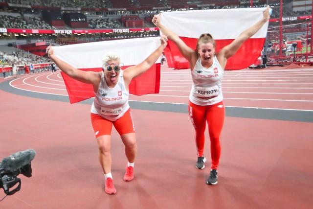 Anita Włodarczyk i Malwina Kopron, czyli złota i brązowa medalistka igrzysk olimpijskich Tokio 2020