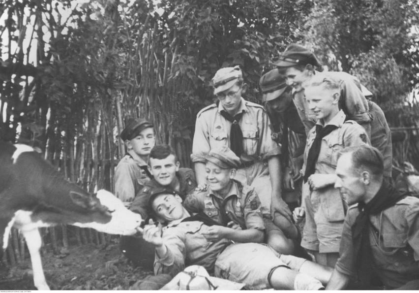 Obóz harcerzy kieleckich w Górach Świętokrzyskich, 1936 rok.