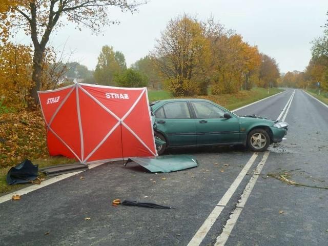 Kąsinowo: Zginął kierowca hondy civic