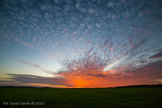 Wieczorne niebo nad Chojnicami 7.05.2020
