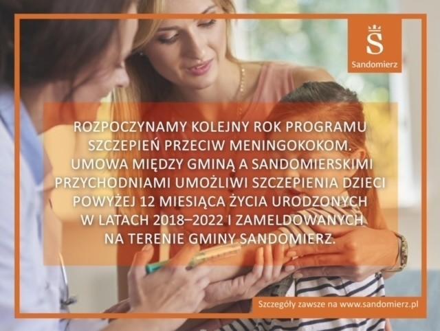 W Sandomierzu ruszają szczepienia przeciw meningokokom. Zobacz jak można zapisać swoje dziecko?