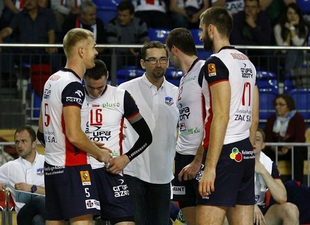 Trener Sebastian Świderski będzie miał do dyspozycji większość kluczowych zawodników. W Zaksie zostali (od lewej): Paweł Zagumny, Michał Ruciak, Grzegorz Bociek i Marcin Możdżonek.