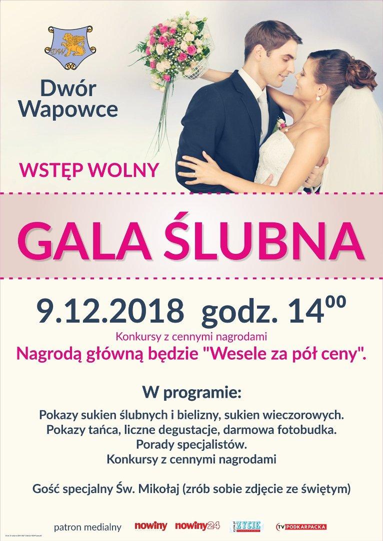 ffb5bbbfa0 9 grudnia Gala Ślubna w Dworze Wapowce koło Przemyśla