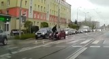 Omijał auta buspasem i potrącił rowerzystę na ulicy Dąbrowskiego w Poznaniu. Uciekł z miejsca zdarzenia. Jest nagranie