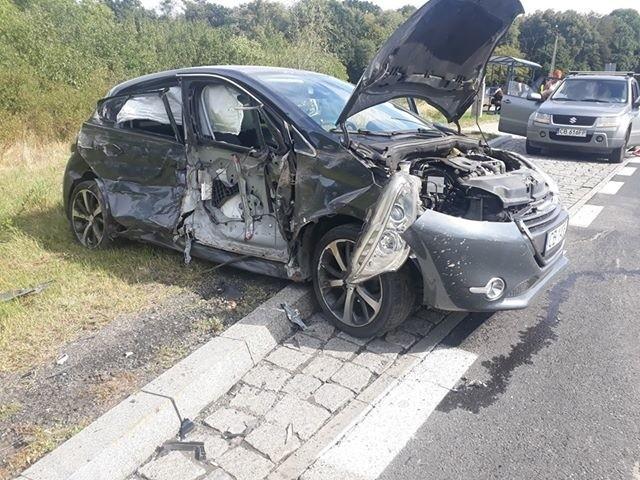 Wypadek w Starym Dworze niedaleko Koronowa.
