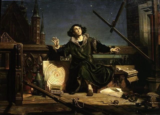 """""""Astronom Kopernik, czyli rozmowa z Bogiem"""" (1871–1873), Jan Matejko"""