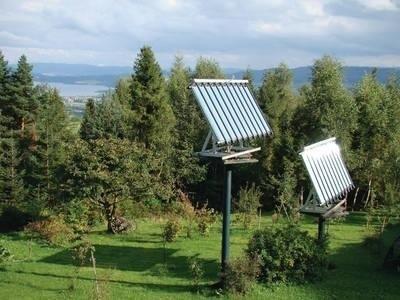 Potężne solary dotarły już wysoko w Gorce Fot. Anna Szopińska