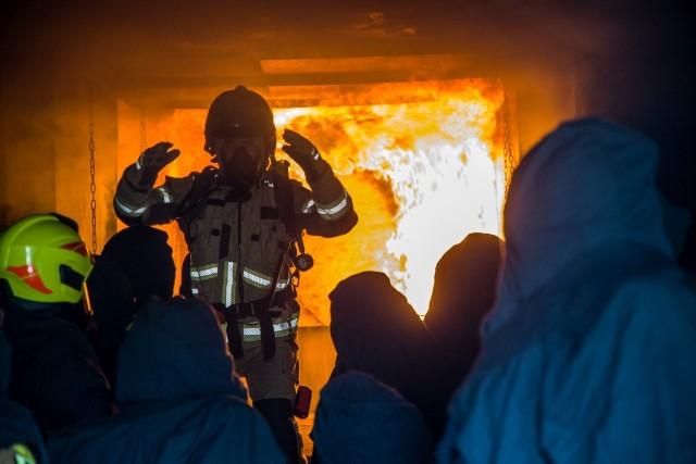 Ćwiczenia strażaków w Opolu.