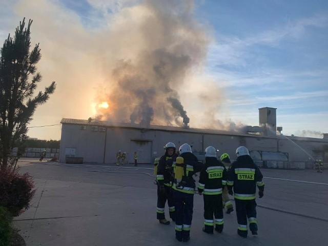 Pożar w zakładzie biopaliw