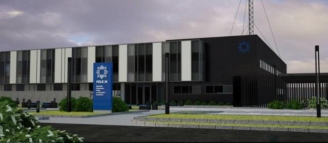 Budynek nowej komendy policjiTak będzie wyglądać nowa siedziba skarżyskiej policji.