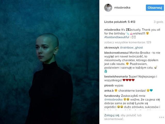 Monika Brodka łysa - takie zdjęcie opublikowała piosenkarka na swoim Instagramie.