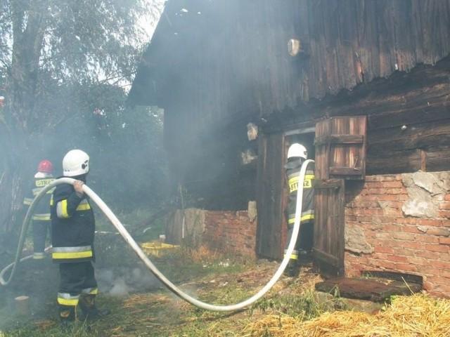 Pożar przy Rataja