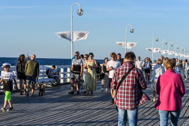 Turyści w Sopocie