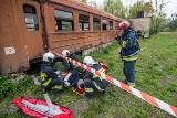 """Ćwiczenia """"Wagon 2019"""" w Brzegu. Strażacy ratowali ofiary katastrofy kolejowej"""