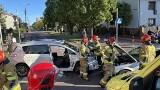 Łomża. Wypadek na Alei Legionów. Toyota zderzyła się z BMW (zdjęcia)