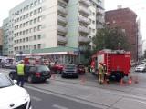Wypadek na Jedności Narodowej. Zderzyły się dwa auta. Nie jeździły tramwaje (ZDJĘCIA)