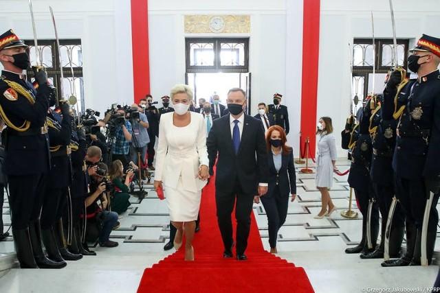 Prezydent Andrzej Duda wraz z małżonką w Sejmie