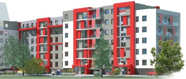 Wizualizacja nowego miniosiedla Na nowym miniosiedlu będzie w sumie 108 mieszkań różnej wielkości, od kawalerek do 4-pokojowych lokali.