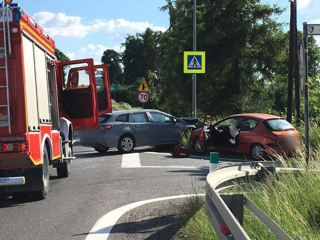 Wypadek na DK 7 w Miechowie