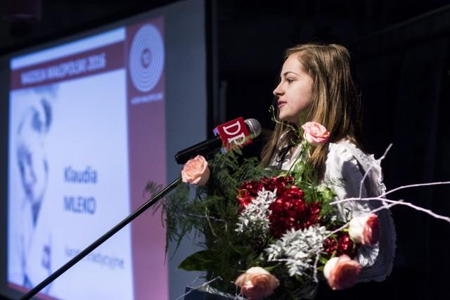 Klaudia Mleko podczas ubiegłorocznej gali plebiscytu 10 Asów Małopolski