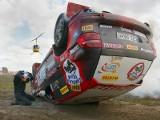 Zobacz, jak doszło do dachowania auta Adama Małysza (zdjęcia)