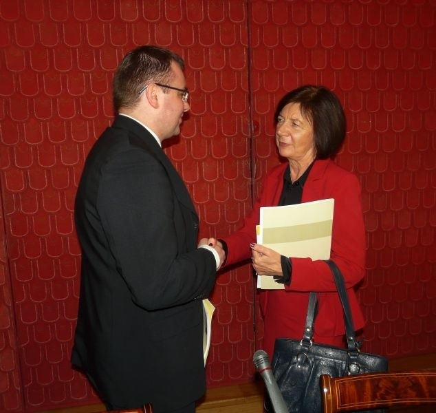 Jeden z pacjentów dziękuje Marii Kaczyńskiej za wsparcie