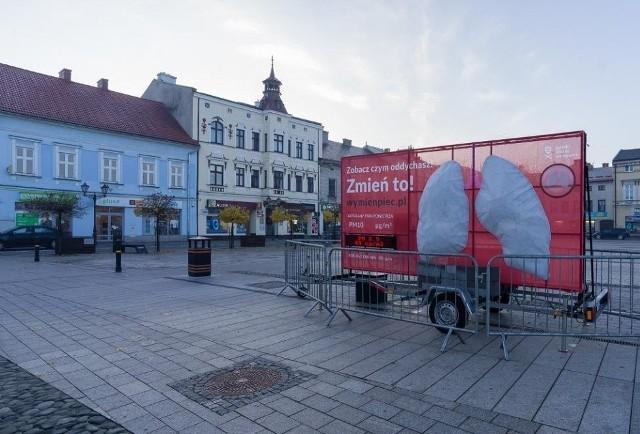 Ubiegłej zimy mobilne płuca stanęły m.in. w Wieliczce i Warszawie. Fot. Polski Alarm Smogowy