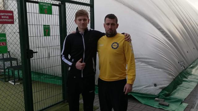 Aleksander Orlikowski z trenerem Tomaszem Ściborem