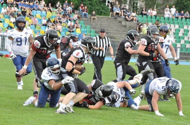Futboliści Kraków Kings w meczu z Wataha Zielona Góra