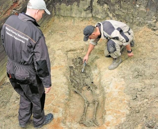 Możliwe, że odkryto szkielet kobiety, ale to potwierdzą eksperci
