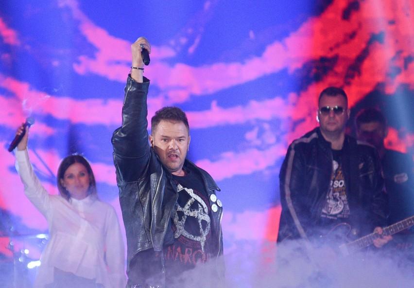 Tomasz Karolak zaśpiewał w koncercie sylwestrowym w Warszawie.