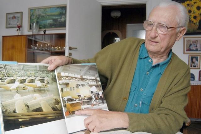 Józef Sudek jest jednym z nielicznych już mielczan, którzy pamiętają początki budowy Polskich Zakładów Lotniczych. A nawet pracował przy ich budowie.