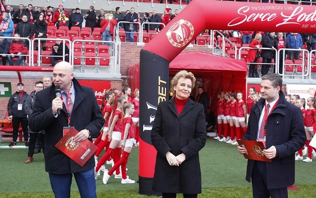 Prezydent Łodzi Hanna Zdanowska na otwarciu stadionu Widzewa