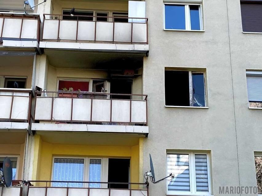 Pożar na opolskiej Malince - jedna osoba jest poszkodowana.