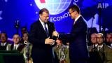 Premier Litwy Saulius Skvernelis otrzymał Nagrodę Człowieka Roku Forum Ekonomicznego w Krynicy