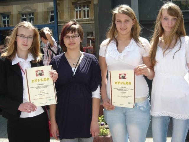 Na zdjęciu od lewej: Magda Witek, Jesicca Krause, Iza Gromotka i Monika Neumann - redaktorki GIMzety