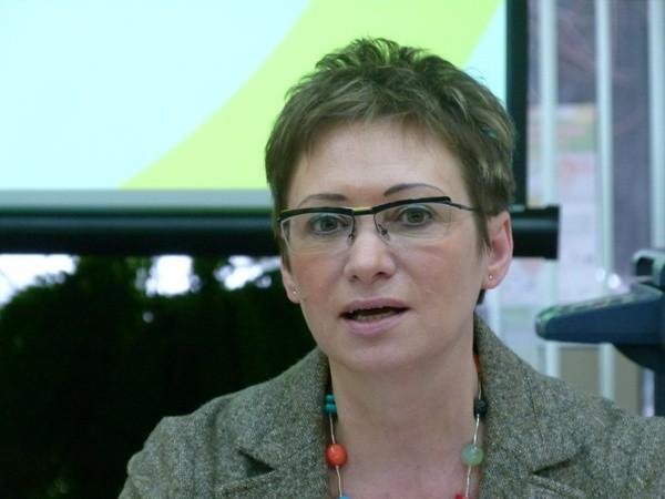 Wiceprezydent Agnieszka Nowak swoje sukcesy wyliczała w filii biblioteki przy ul. Zachodniej, która została wyremontowana w tym roku.