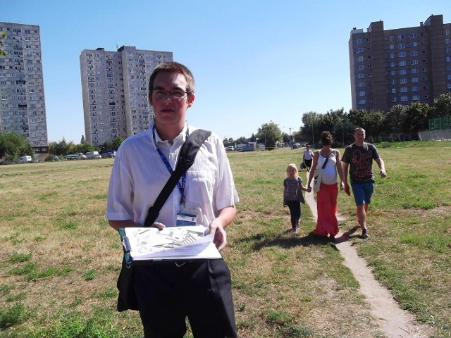 Mieszkańcy chcą zrobić wszystko, żeby uratować polanę przed zabudową - mówi Ł. Kapusta