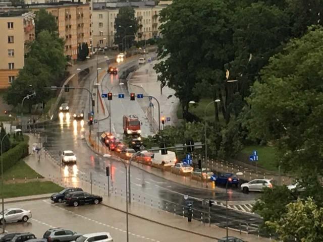 Skutki burzy w centrum Białegostoku
