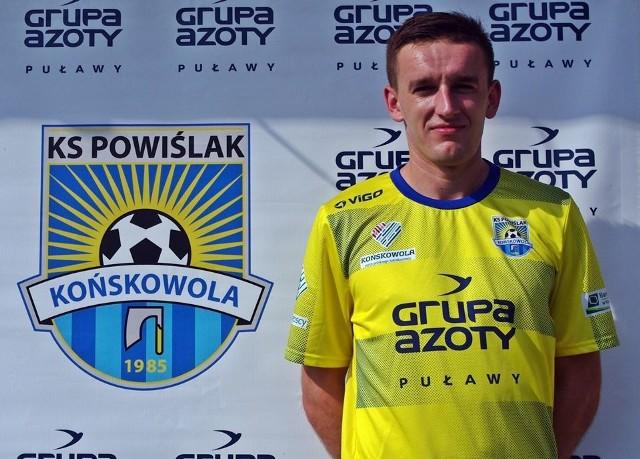 Damian Koprucha w ostatnich dwóch sezonach był najlepszym zawodnikiem Powiślaka Końskowola