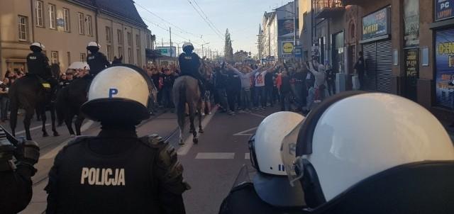 Niespokojnie na Cichej podczas meczu Ruch Chorzów - Resovia