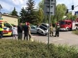 Wypadek w Katowicach. Na ulicy Rolnej zderzyły się dwie toyoty. Są utrudnienia w ruchu